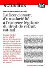 Le licenciement d&#039;un salari li  l&#039;exercice lgitime du droit de retrait est nul