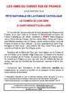 FTE NATIONALE DE LA FRANCE CATHOLIQUE LE SAMEDI 20 JUIN 2009 A SAINT-BENOT-SUR-LOIRE