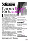 POUR UNE EUROPE 100% SOCIALE