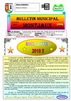 Bulletin Municipal de la commune de Montjaux n 53 - Janvier 2010
