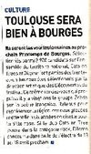 Revue de presse Bourges