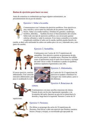 Calam o rutina de ejercicios fisicos for Entrenamiento para adelgazar