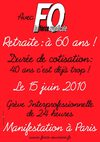 Retraite :  60 ans NON NE GO CI A BLE