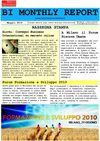 MONTHLY REPORT MAGGIO 2010