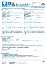 Formulaire de demande RSA
