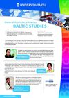 Centre for Baltic Studies - Baltic Studies MA Programme