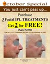 October Special - IPL Photorejuvenation Treatments