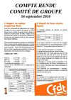 compte rendu comit de groupe 14 septembre 2010
