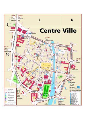Plan De La Ville De B