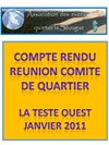 REUNION COMITE QUARTIER OUEST MIQUELOTS JEUDI 27 JANVIER 2011