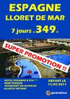 LLORET DE MAR PROMOTIONS DEPART 11/07 !
