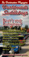 "Dashboards and Saddlebags ""The Destination Magazine"" November 2011"