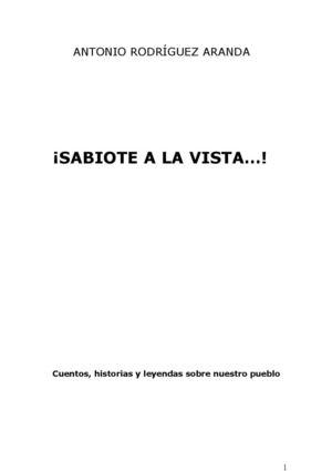 Cuentos >> Calaméo - ¡SABIOTE LA VISTA...!