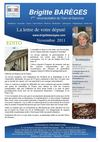 NEWSLETTER NOVEMBRE 2011