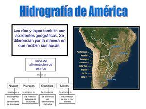 hidrografia de america: