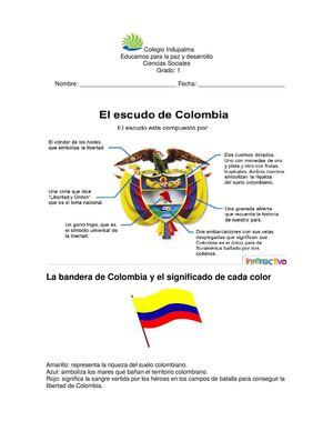 Explicación de cada parte del escudo de colombia