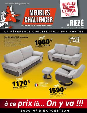 calam o meubles challenger reze offres valables jusqu 39 au 11 08 2012. Black Bedroom Furniture Sets. Home Design Ideas