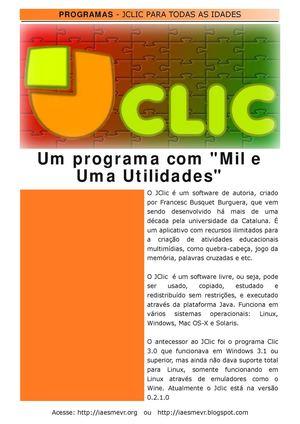 """JClic - Um programa com """"Mil e Uma Utilidades"""""""