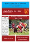 Newsletter du BEC Rugby N27 - Lundi 8 Octobre 2012