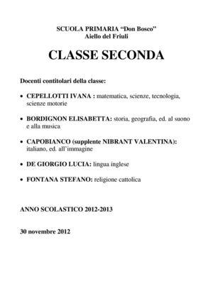 calam233o classe seconda