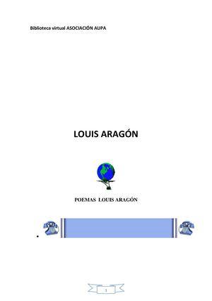 ARAGON LOUIS SELECCIÓN POEMAS