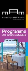 Programme de la Mdiathque Andr Malraux du 2e trimestre 2013
