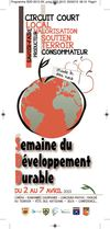 Programme de la semaine du dveloppement durable 2013