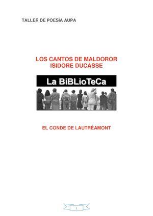 ISADORE DUCASSE  LOS CANTOS DE MALDOROR