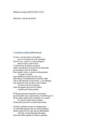 Louis Aragon seleccion poemas