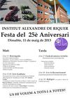 CARTELL DE LA FESTA DELS 25 ANYS