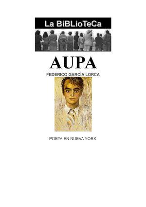 FEDERICO GARCIA LORCA  POETA EN NUEVA YORK