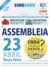 SINDSERV Jornal #89 - ABR 2013 - Assembleia Campanha Salarial