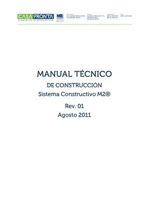 Calam o manual tecnico de construccion sistema for Manual de construccion