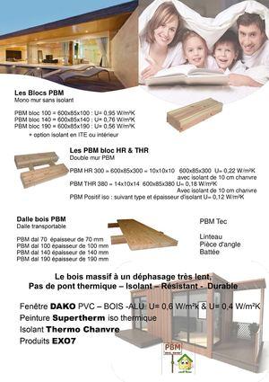 Calam o maison en parpaing bois massif pbm bloc for Maison parpaing bois