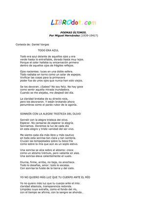 HERNANDEZ MIGUEL - Poemas Ultimos