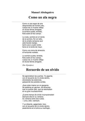 Altolaguirre Manuel - Varios Poemas