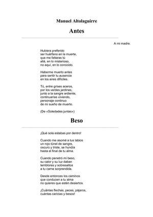 Altolaguirre, Manuel - Soledades juntas (selecci¢n)