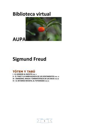 27_SIGMUND FREUD_TOTEM Y TABÚ