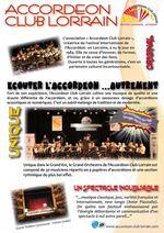 Présentation de l'association Accordéon Club Lorrain