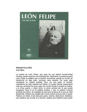 LEON FELIPE Antologia