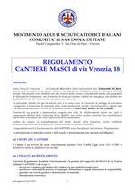 Regolamento Cantiere MASCI di Via Venezia