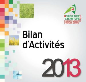 Calam o bilan d 39 activit s 2013 de la chambre d for Chambre agriculture champagne ardenne