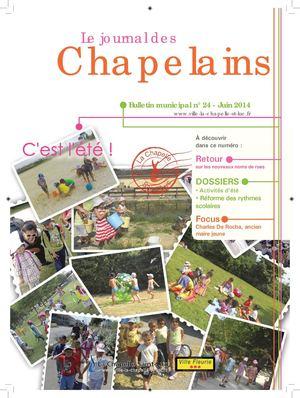 Calam o bulletin municipal n 24 la chapelle saint for Piscine de la chapelle saint luc