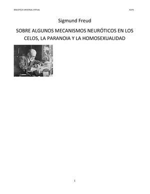17_SIGMUND FREUD SOBRE ALGUNOS MECANISMOS NEURÓTICOS EN LOS CELOS, LA PARANOIA Y LA HOMOSEXUALIDAD