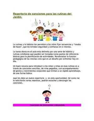 Calam o canciones para el jardin for Cancion para saludar al jardin de infantes
