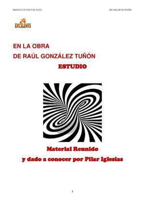 E_HIPÓTESIS SOBRE LA OBRA DE RAÚL GONZÁLEZ TUÑÓN