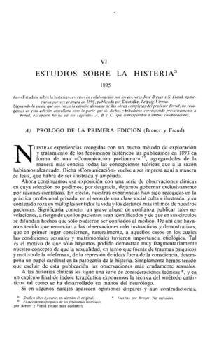 14_SIGMUND FREUD Estudios Sobre La Histeria  TOMO I
