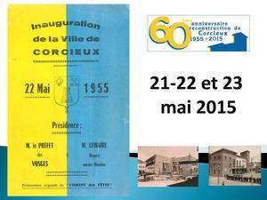 60e Anniversaire Reconstruction de Corcieux