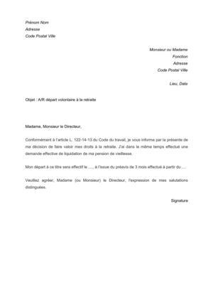 Modele Lettre Demission Reduction Preavis Cadeau Pour Calendrier De