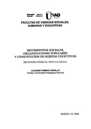 Calam 233 O Movimientos Sociales Y Organizaciones Populares
